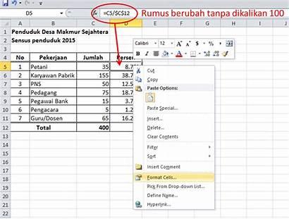 Menghitung Persen Excel Cara Exel Lalu