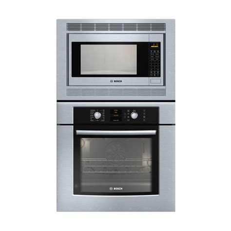 shop bosch 29 3 4 in microwave wall oven combo stainless