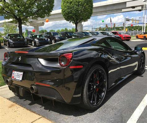 Unless you have a distinct preference for the feel of wind whipping through your hair, we think you'll be more than satisfied with the coupe, which is slightly more affordable than the droptop. Black On Black Ferrari 488 GTB. - 6SpeedOnline - Porsche ...