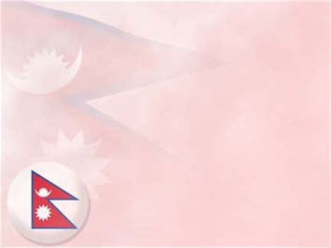 nepal flag  powerpoint templates