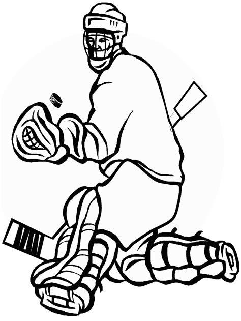 Kleurplaat Ijshockey by Hockey Kleurplaten Animaatjes Nl