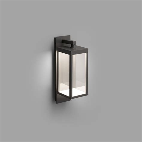contemporary dark grey led outdoor wall lantern lighting