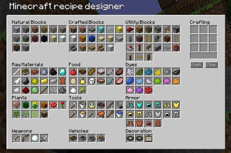 minecraft recipe designer minecraft blog
