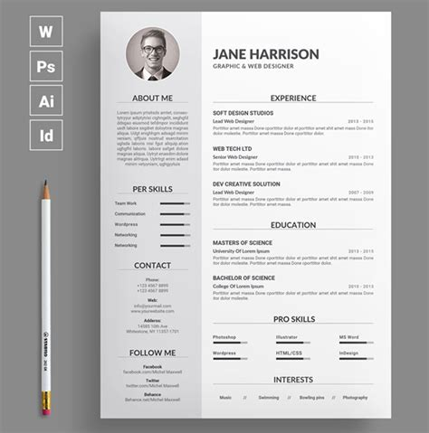 Resume Layout Design by Best Of 2017 Stylish Professional Cv Resume Templates