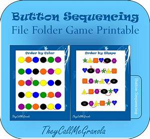 sequencing file folder games button sequencing number With free file folder game templates