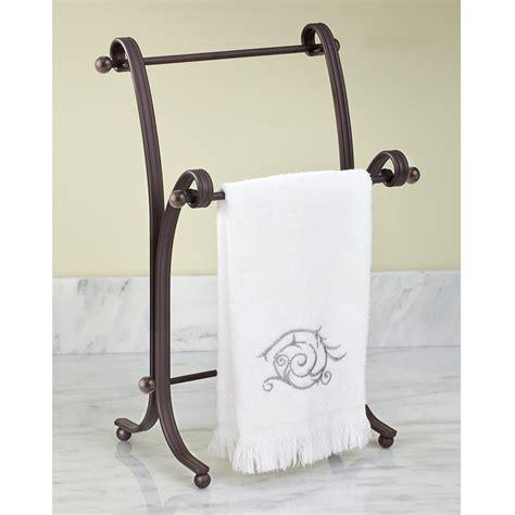 towel holder bath towel stand rack bronze bathroom standing holder