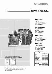 Grundig Cuc 1832 Tv Service Manual Download  Schematics  Eeprom  Repair Info For Electronics Experts