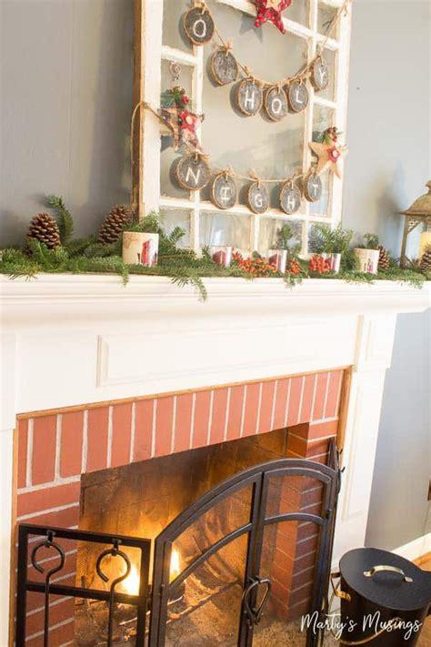 decorate  christmas mantel  cheap