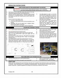 Operating Instructions  Lighting Instructions  To Turn Off