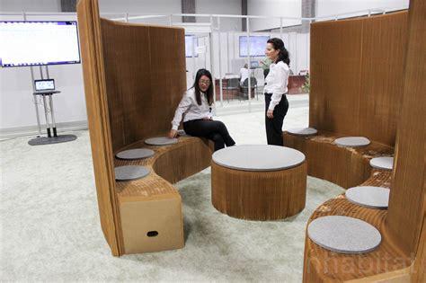 brilliant origami  paper furniture creates portable