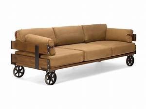 Sofas Online Bestellen : couch im industrie look sofa mit rollen 3 sitzer ~ Pilothousefishingboats.com Haus und Dekorationen