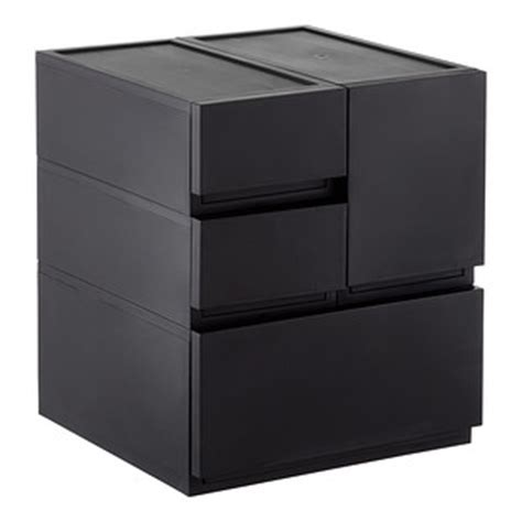 modular kitchen drawer organizers black opaque modular stackable drawers the container 7827
