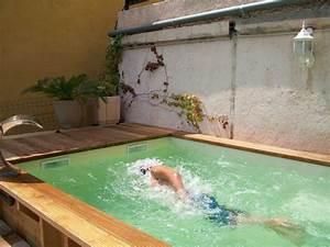 Spa En Bois Pas Cher : petite piscine semi enterr e bois piscine tout en bois ~ Premium-room.com Idées de Décoration
