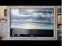 flat screen tv covers Motorized Cover Art for Flat Screen TV - YouTube