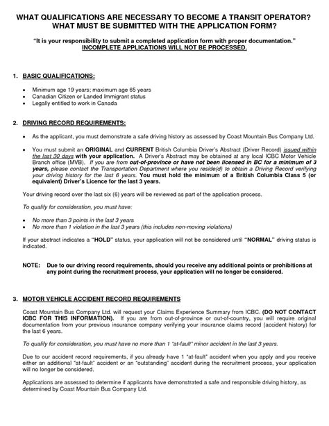 Resuming Letter Sle by Resume Templates Transit Driver Sales Lewesmr Driver