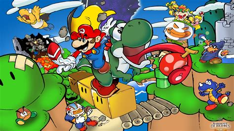 Super Mario World Illustration By Joel Sousa