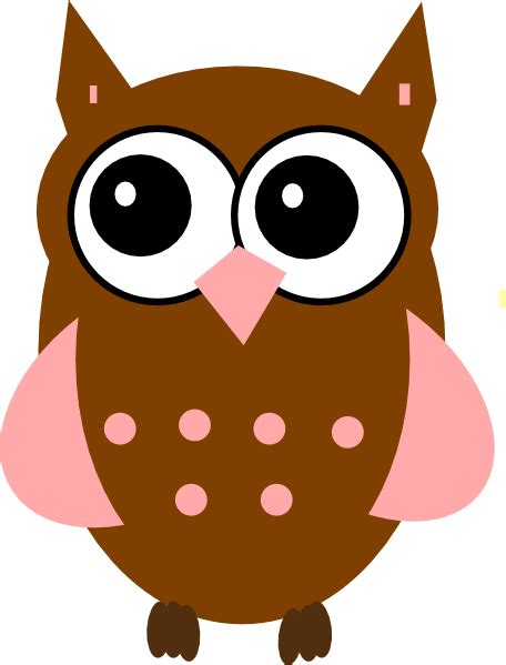 owl clipart pink owl clip at clker vector clip