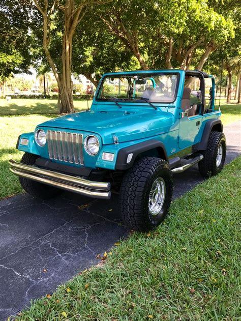 teal jeep wrangler 25 b 228 sta 1997 jeep wrangler id 233 erna p 229 pinterest jeep