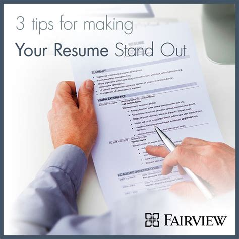 How To Make An Resume Stand Out by 1000 Images About Fairview Employees Fairview Health Services On Tips