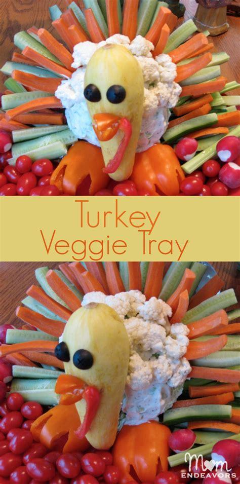 cornucopia  creativity turkey veggie tray