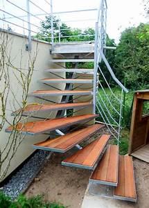 Escalier Terrasse Bois : rampe de terrasse et escalier ext rieur metal concept ~ Nature-et-papiers.com Idées de Décoration