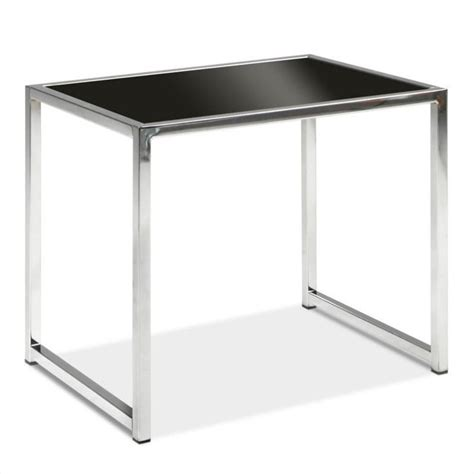 black glass end table yld09