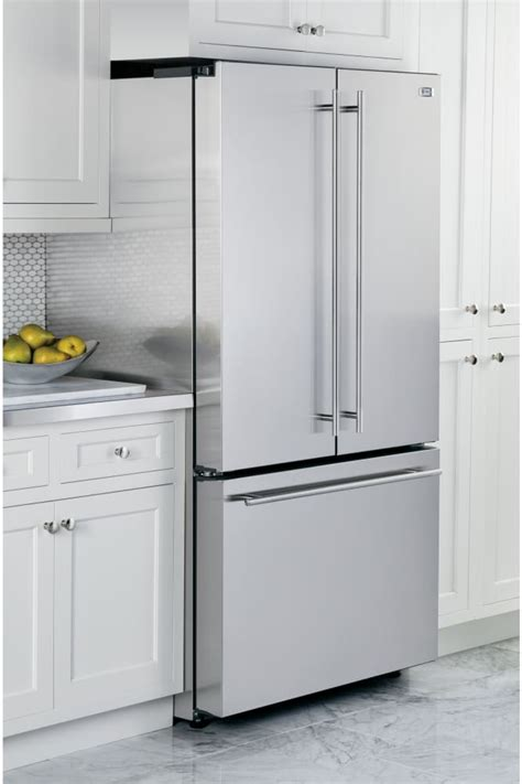 cabinet depth refrigerator monogram zwe23eshss 36 inch counter depth french door