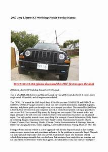 2005 Jeep Liberty Kj Workshop Repair Service Manual By