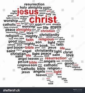 Jesus Christ Word Cloud Stock Vector 134289806 - Shutterstock