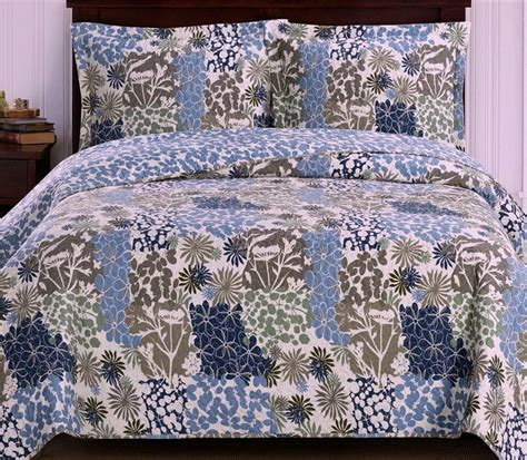 Green Coverlets by Hawaiian Tropical Blue Green Floral Lightweight Quilt