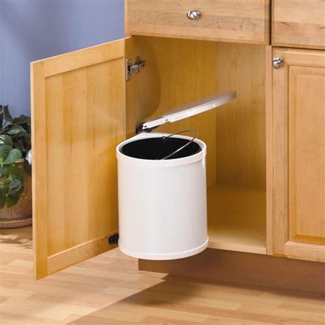under cabinet trash bins knape vogt trash master waste bin the home depot canada