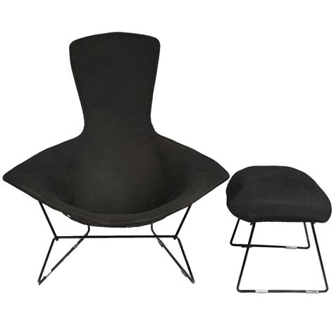 vintage bertoia bird chair and ottoman with cover in
