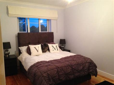 Bedroom Painted In Dulux Blueberry White