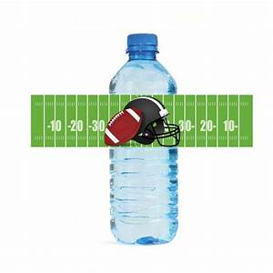 football water bottle labels printable football labels With football water bottle labels
