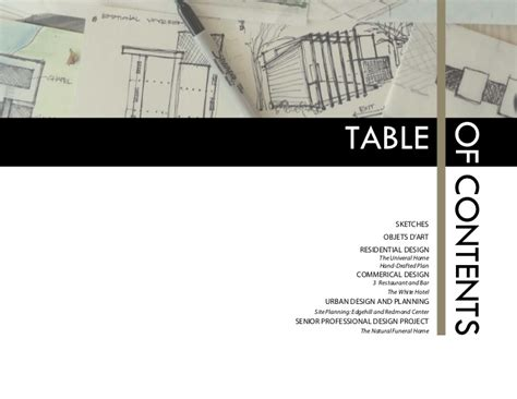 11439 architecture portfolio table of contents brilliant tips to make a professional architecture