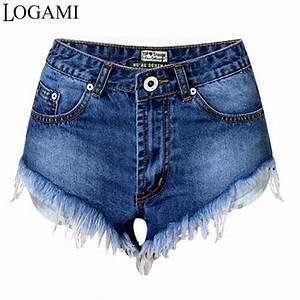 Aliexpress.com  Buy Denim Shorts Women Sexy Jeans Shorts Summer Woman Irregular Mini Short ...
