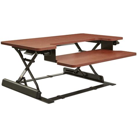 height adjustable standing desk riser height adjustable desk riser in desks and hutches