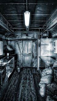 Trains Vintage Box Car Interior Vertical BW Photograph by ...