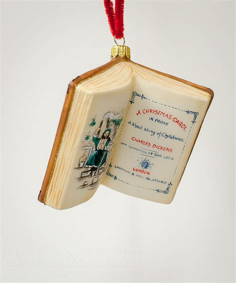 quot a christmas carol quot book ornament by vaillancourt folk art