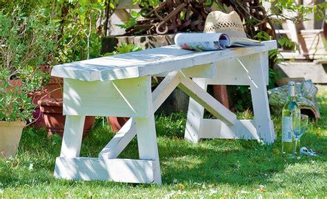 Holzbank  Gartenliege selbstde