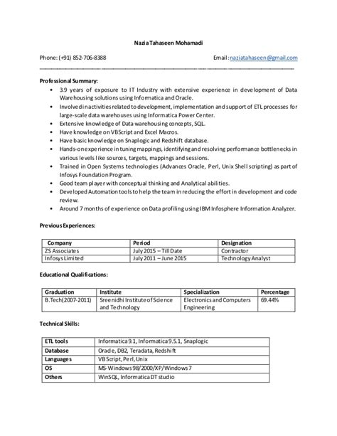 ssrs sle resume simple resume template