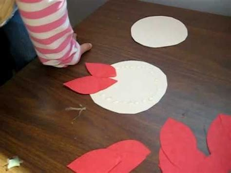 christmas arts  crafts activity red color paper