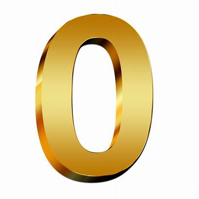 Number Numbers 3d Gold Digit Number0 Pay