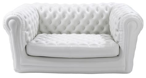 blow up sofa bed big blo 2 straight sofa inflatable 2 seats white by