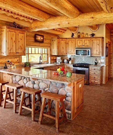 cabanas de madera cocinas de cabanas interiores de