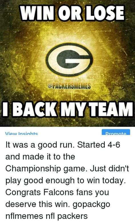 packers bay lose win memes play packer game run team today smemes falcons championship didn started smeme congrats enough fans