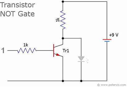 Inverter Transistor Circuit Gate Logic Gates Led
