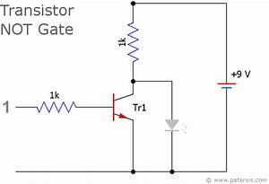 transistor logic not gate inverter With singleledcircuitgif