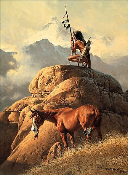 Western Art Prints The Lone Sentinel Frank Mccarthy