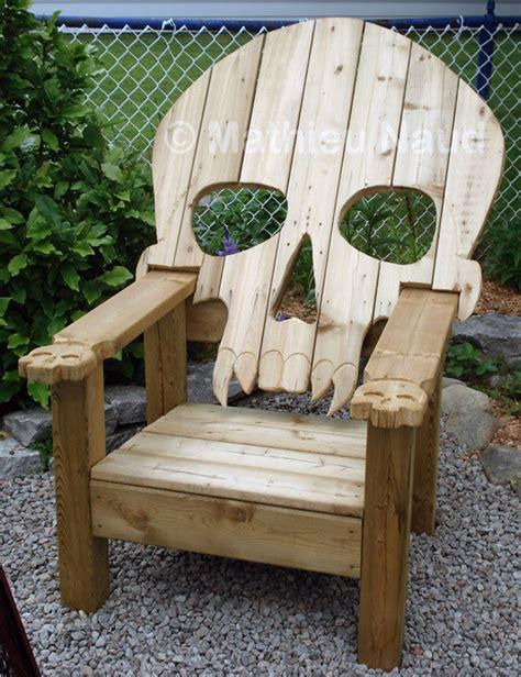 cool  unusual chairs inspired  skull  skeleton